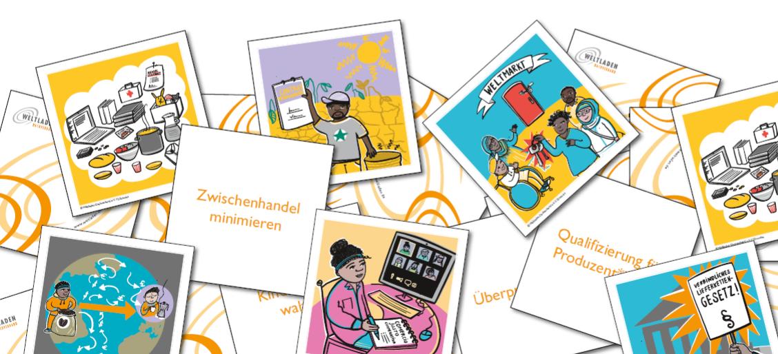 Karten-Sets: Fairen Handel begreifen. Quelle: Weltladen-Dachverband e.V.