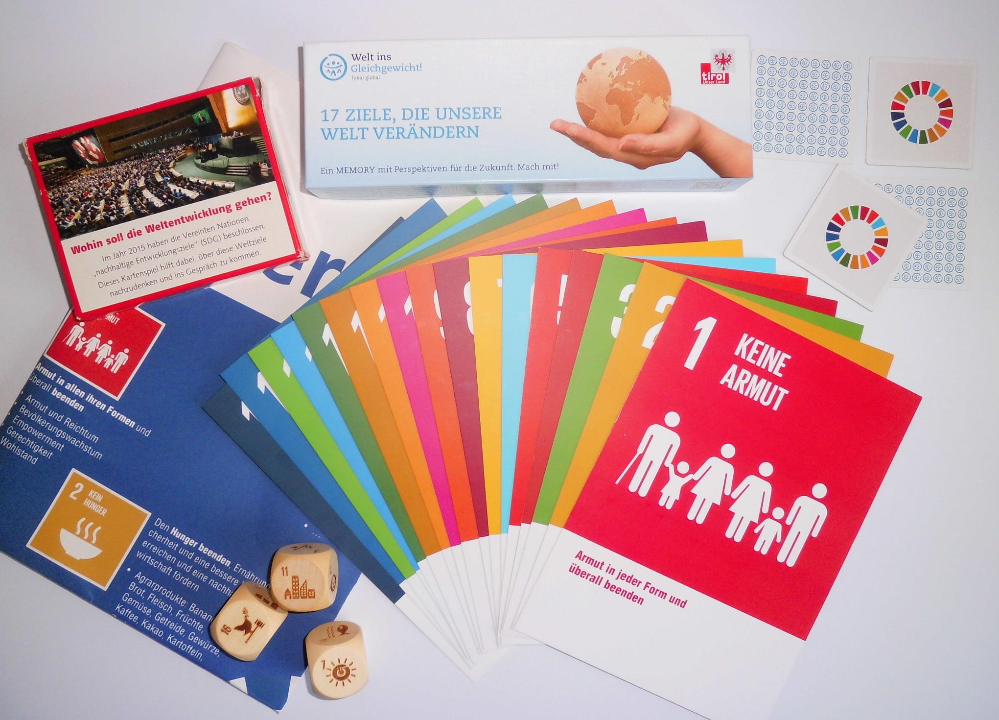 Aktionsmaterial des EPiZ Reutlingen zur Agenda 2030. Copyright: CC-BY-NC, Entwicklungspäadagogisches Informationszentrum Reutlingen und Bildung trifft Entwicklung