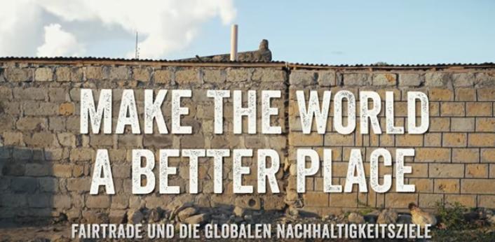 """Screenshot Video """"Make The World a Better Place"""". Quelle: Der Fairtrade Kanal www.youtube.com/watch?v=n_wtr6bElWc"""
