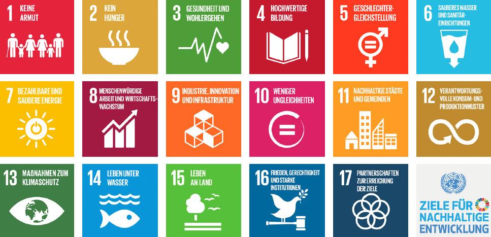 Die 17 SDGs.