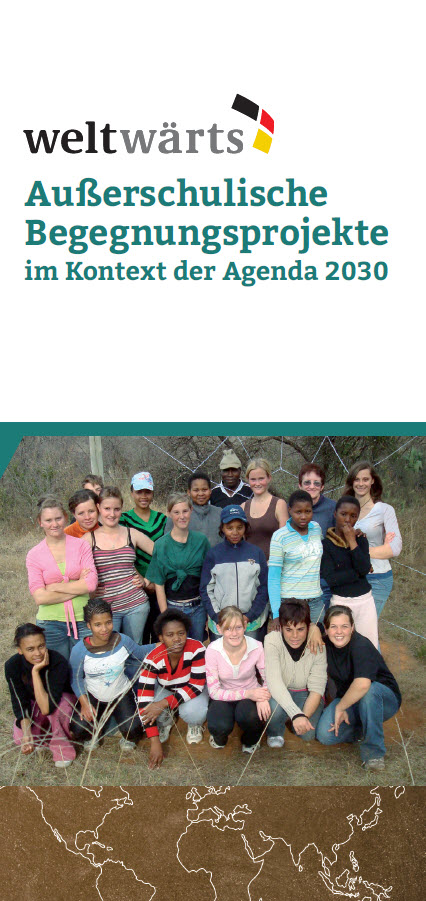 Titelseite Flyer weltwärts-Begegnungsprojekte. Quelle: begegnungen.weltwaerts.de
