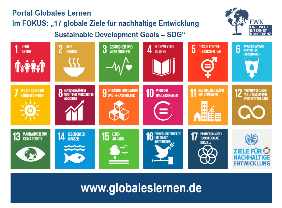 Flyer SDGs Portal Globales Lernen