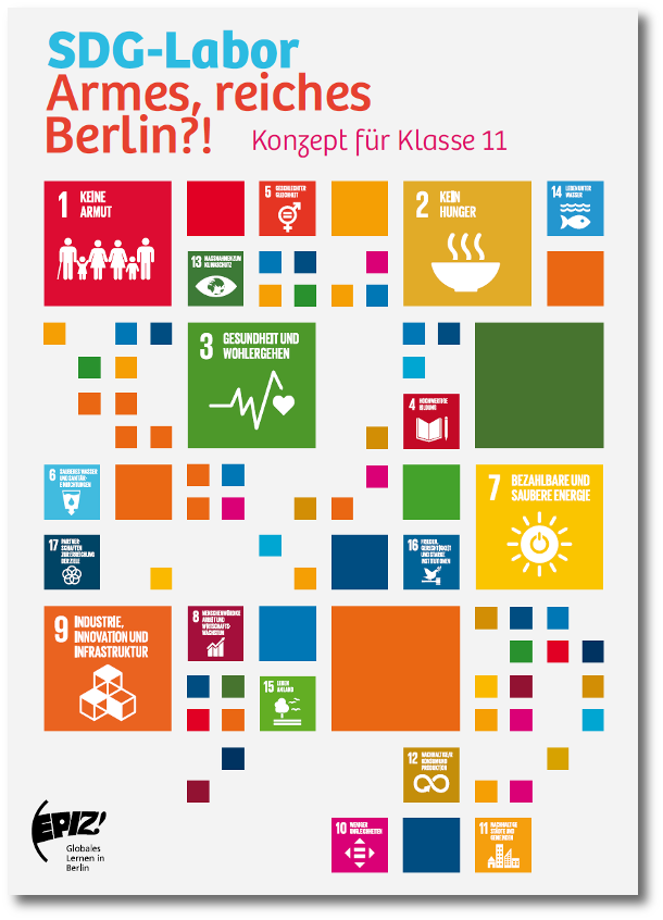 Titelseite Workshopkonzept zum SDG 10 Ungleichheit. Quelle: epiz-berlin.de