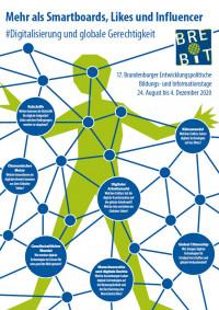 Plakat zur BREBIT 2020 zum Thema Digitalisierung und globale Gerechtigkeit. Quelle: Demokratie und Integration Brandenburg e.V.