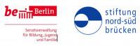 Logos Stiftung Nord-Süd-Brücken und Senatsverwaltung für Bildung Jugend und Familie Berlin. Quelle: nord-sued-bruecken.de