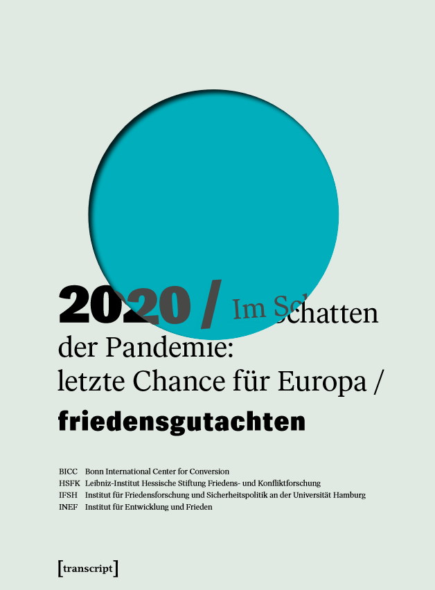 Titelseite Friedensgutachten 2020. Quelle: friedensgutachten.de
