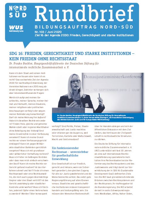 Cover Rundbrief Nr. 102. Quelle: WUS
