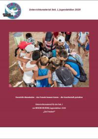"""Titelseite Unterrichtsmaterial zur MISEREOR/BDKJ-Jugendaktion 2020 """"Gib Frieden!"""". Quelle: MISEREOR"""