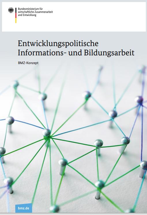 """Titelseite des neuen Konzepts """"Entwicklungspolitische Informations- und Bildungsarbeit"""""""