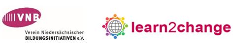 Logos der Projektpartner Verein Niedersächsischer Bildungsinitiativen VNB e. V. und  Learn2Change – Global Network of Educational Activists. Quelle: VNB