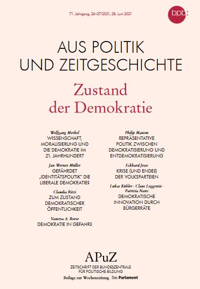 """Titelseite der Ausgabe 26-27/2021 des Heftes APuZ - """"Aus Politik und Zeitgeschichte"""""""