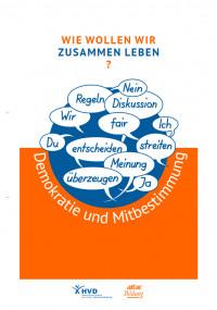 """Titelseite des Materials """"Demokratie und Mitbestimmung"""". Quelle: attac.de"""