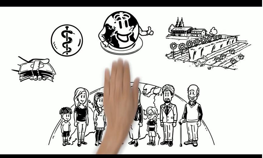 Szenenbild aus dem Erklärfilm zur Nachhaltigen Ernährung. Quelle: Agar-Koordination