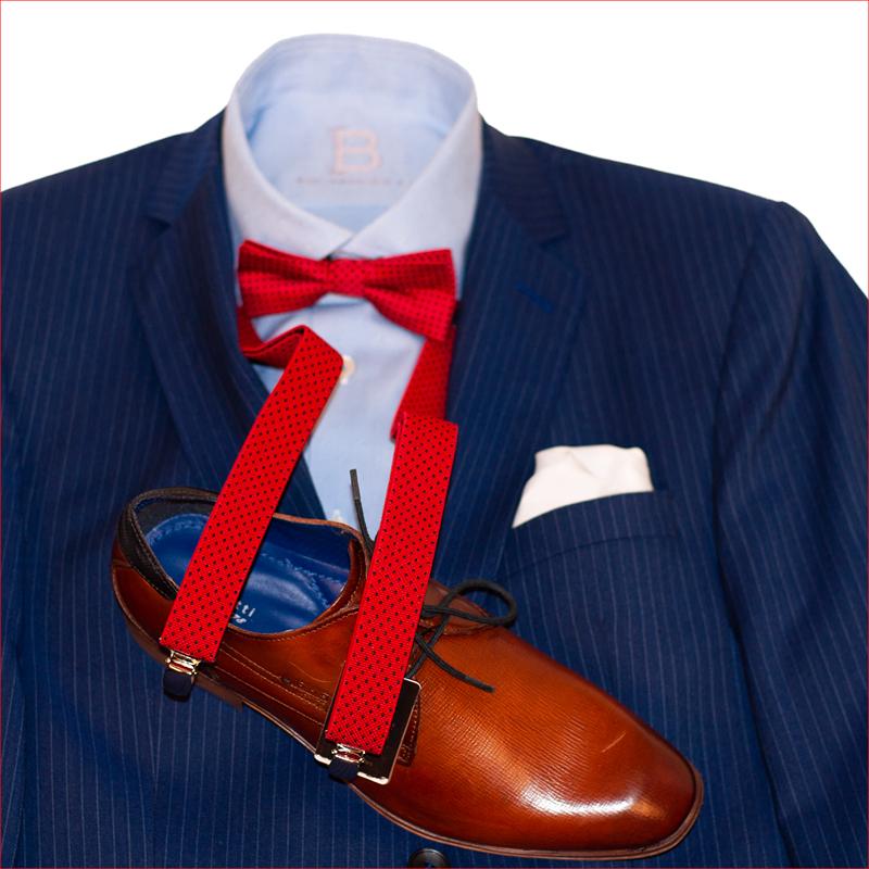 Edler Bonacelli Streifen Anzug