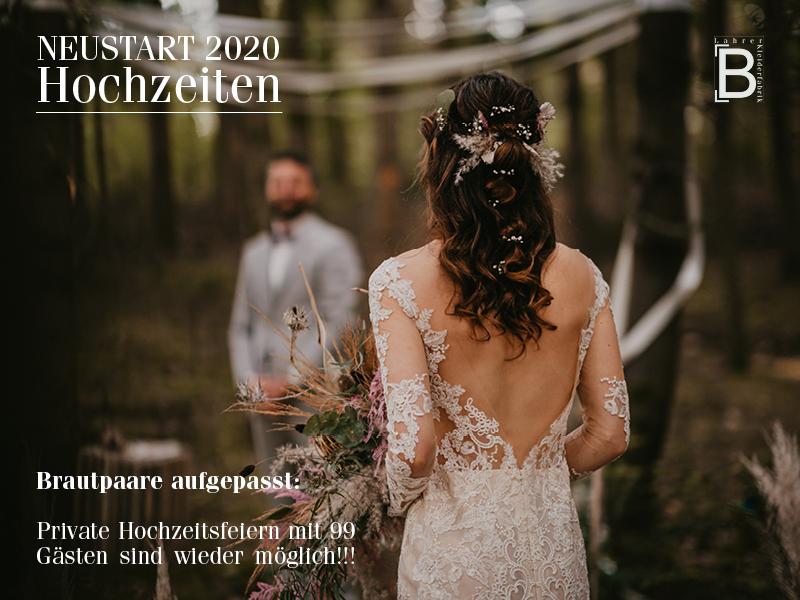 Hochzeitsfeiern wieder möglich!