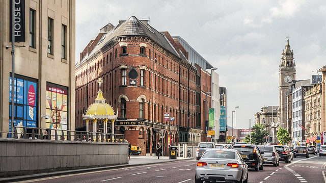 Straße in Belfast