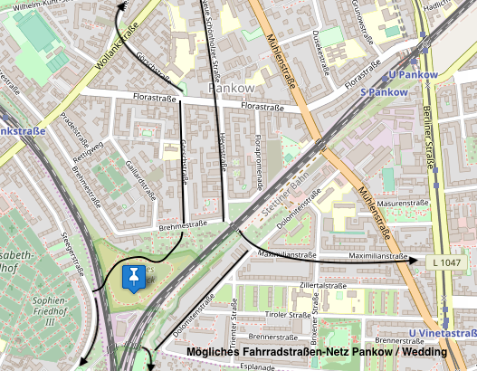 Fahrradstraßenplan Nasses Dreieck