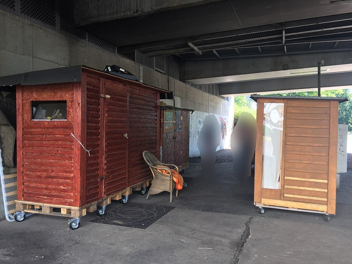 Mini-Wohnhäuser für Obdachlose