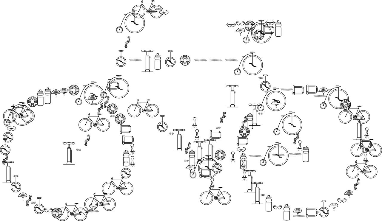 Symbol Fahrrad