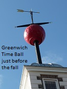 Greenwich Time Ball just before the fall