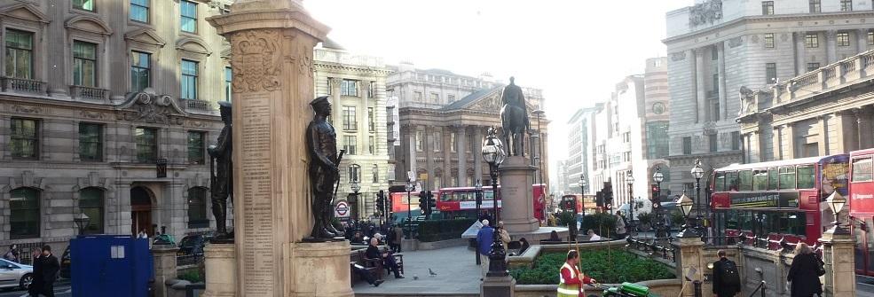 Outside Royal Exchange