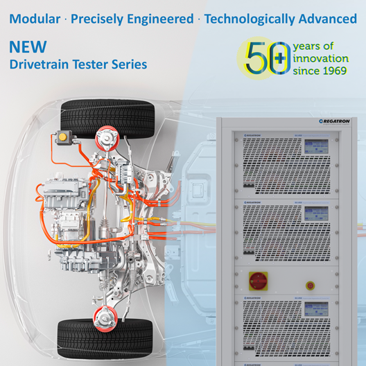 Driving Vehicle Electrification Forward with REGATRON's New Drivetrain Tester Series