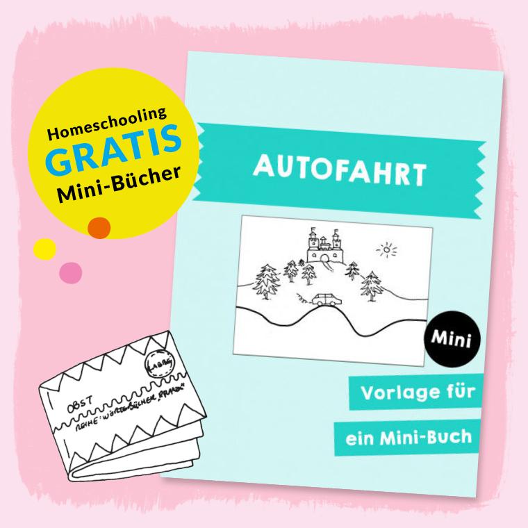 Homeschooling - Minibuch Liniengeschichten - Autofahrt PDF