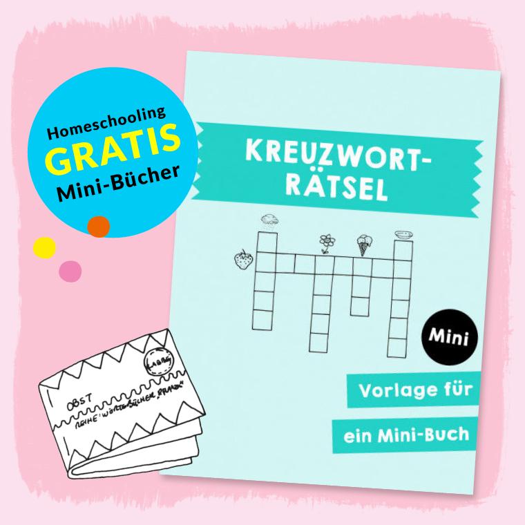 Homeschooling - Minibuch Kreuzworträtsel PDF