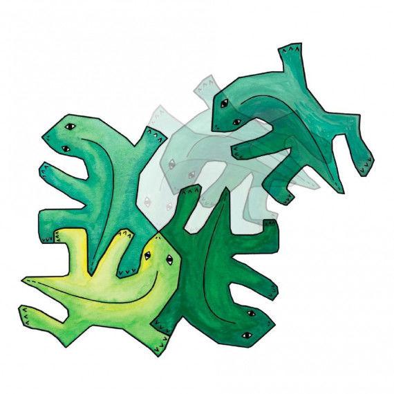 Echsen-Puzzle