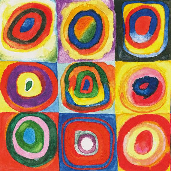 Wassily Kandinsky - Farbstudie Quadrate mit konzentrischen Ringen PDF