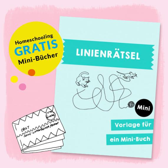 Homeschooling - Minibuch Linienrätsel PDF