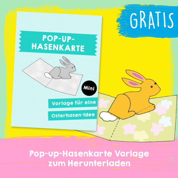 Pop-Up Hasenkarte - Gratis PDF