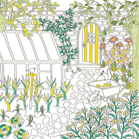 Ausmalbilder - Gartenwelten PDF