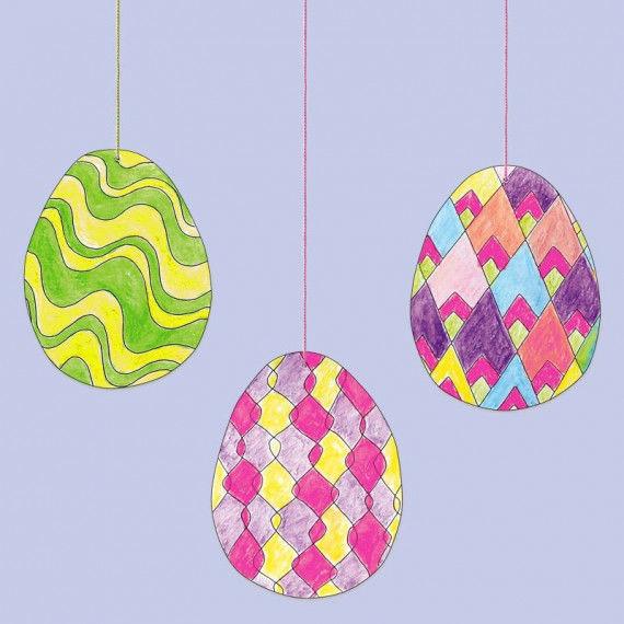 Linienmuster-Eier PDF