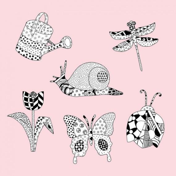Doodle Tangles - Frühling PDF