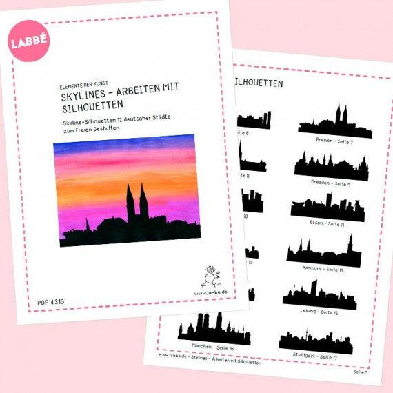 Skylines Deutschland - Arbeiten mit Silhouetten PDF