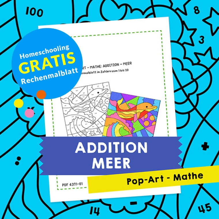 Homeschooling - Pop-Art – Mathe Addition: Meer PDF