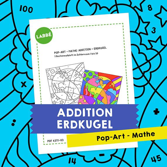 Homeschooling - Pop-Art – Mathe Addition: Erdkugel PDF