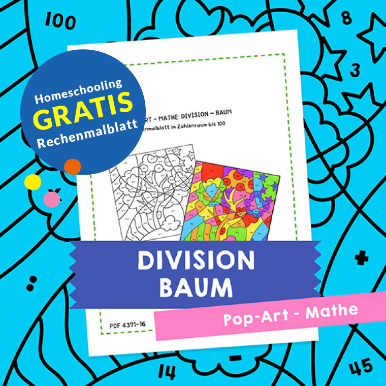 Homeschooling - Pop-Art – Mathe Division: Baum PDF