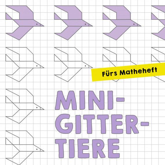Homeschooling: Mini-Gittertiere für das Matheheft PDF