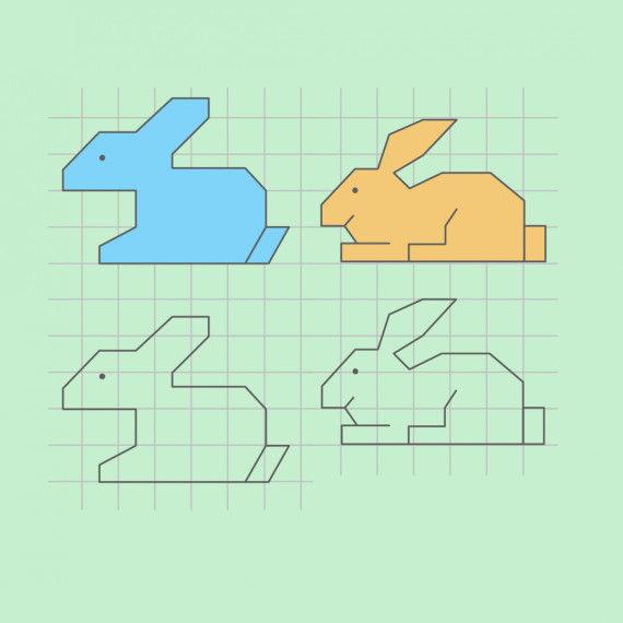 Mini-Gittertiere für das Matheheft PDF