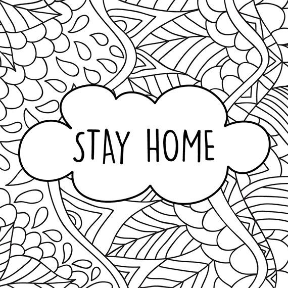 Motivationskarten zum Ausmalen - Stay Home + Wir bleiben zuhause PDF