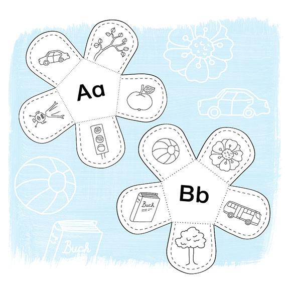 Homeschooling: Lernblumen - A und B