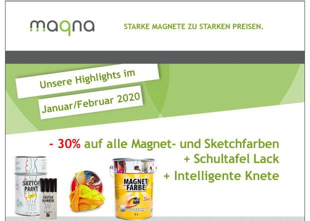 -30% Rabatt auf alle Magnet- und Sketchfarben + Schultafel Lack + Intelligente Knete