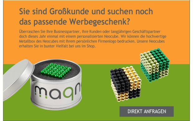 Personalisierter Neocube als Werbegeschenk - gleich anfragen