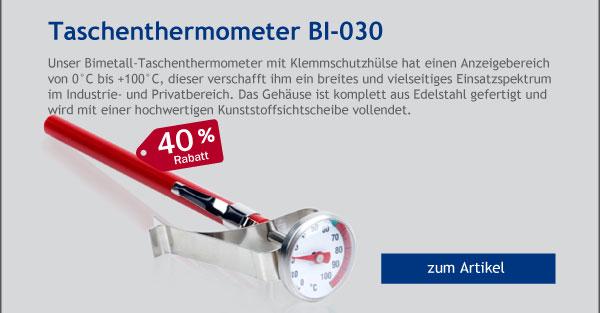 - 40% Rabatt auf unser Bimetall Taschenthermometer