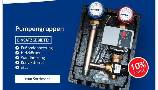 Unser Geschenk: -10% auf alle Pumpengruppen bei Sensorshop24.de