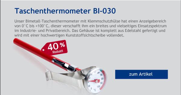- 40% Rabatt auf Taschenthermometer