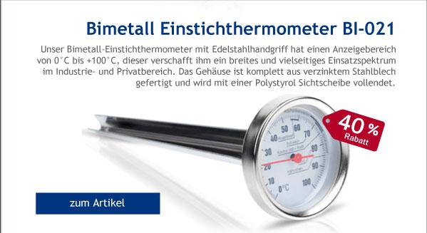 - 40% Rabatt auf Bimetall Einstichthermometer