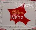 Torte mit Schriftzug Unser Hamburg unser Netz